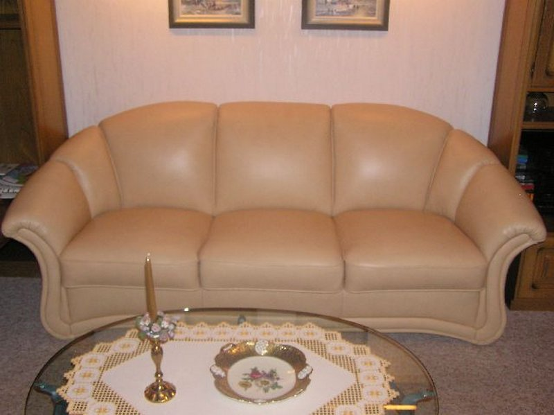 Couch neu gepolstert und mit neuen Leder