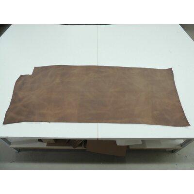 Blankleder Büffel braun antik Sattelleder vegetabil Fahlleder Fläche ca. 0,8 - 0,9 qm.