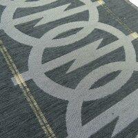 Oldtimerstoff schwarz mit Opel Logo für Manta &...