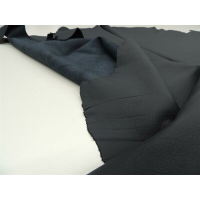 Wasserbüffel Autoleder Nappa Struktur seeblau