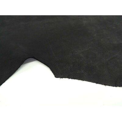 Wasserbüffel Autoleder Nubuk schwarz