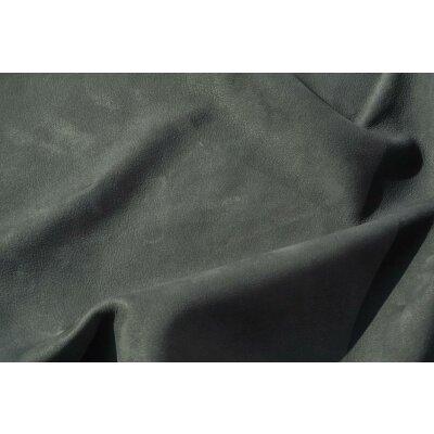 Wasserbüffel Autoleder Nubuk grau