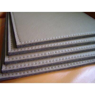 Dicklederauflage Strukture mit Wollfilz (8 mm) mit Anti-Rutsch