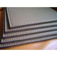 Dicklederauflage Strukture mit Wollfilz (8 mm) mit...