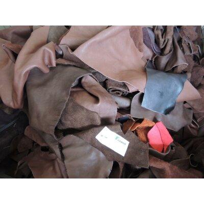 Ecopell Bioleder Stücke gemischt Stärke 1,2-1,4 mm ab 1 kg
